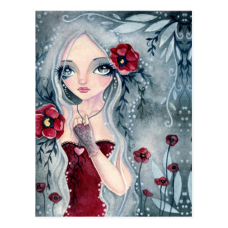 Poppy, from the mist - Postcard