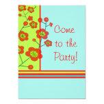"""Poppy Fun Party Invitation 5"""" X 7"""" Invitation Card"""