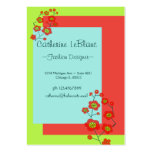 Poppy Fun Trendy Large Business Card