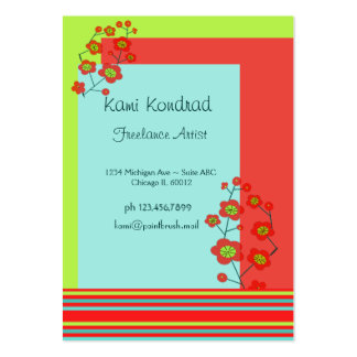 Poppy Fun Trendy Stripes Large Business Cards (Pack Of 100)