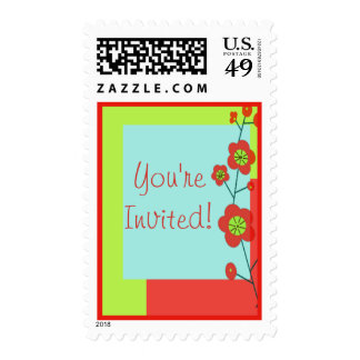 Poppy Fun You're Invited Customizable TBA Postage
