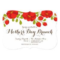 Poppy Garden Floral Mother's Day Brunch Invitation