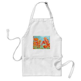 Poppy Garden Painting Adult Apron