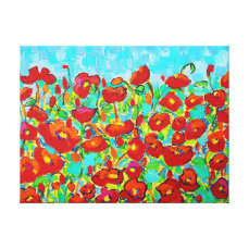 """Poppy Gathering"" Fine Art by Susi Franco Canvas Print"