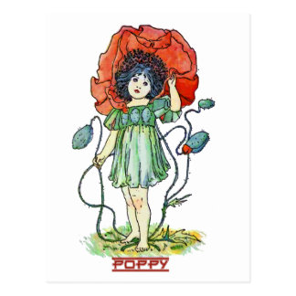 Poppy Girl Postcard