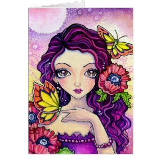 Poppy Glamour - blank card