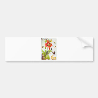 Poppy Gnome Bumper Sticker