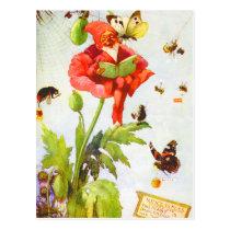 Poppy Gnome Postcard