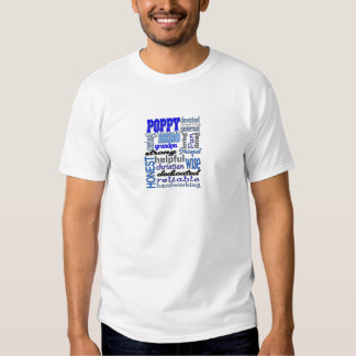 Poppy Grandpa Fathers Day Papa Pawpaw Tee Shirt