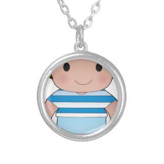 Poppy Greek Boy Custom Necklace
