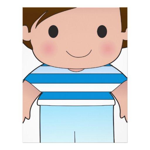Poppy Greek Boy Customized Letterhead