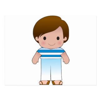 Poppy Greek Boy Postcard