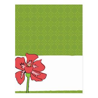 Poppy Green Post Card