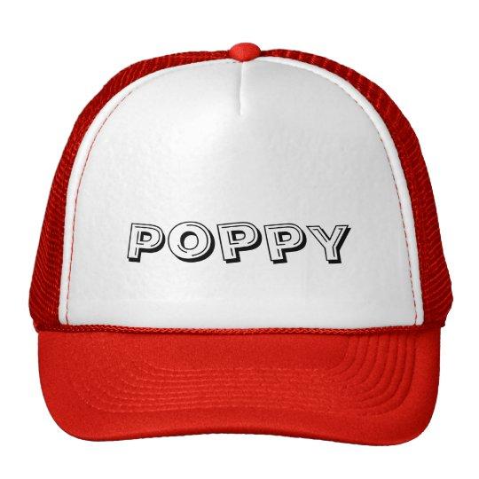 Poppy, hat, cap trucker hat