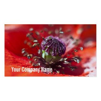 Poppy Heart Custom Business Cards