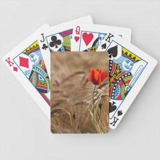 Poppy in a cornfield bicycle poker deck