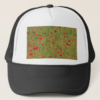 poppy in spring trucker hat
