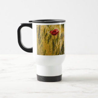 Poppy in the Wheat Field Travel Mug