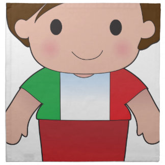 Poppy Italian Boy Cloth Napkin