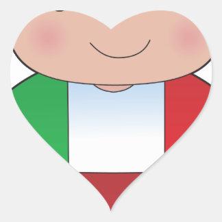 Poppy Italian Boy Heart Sticker