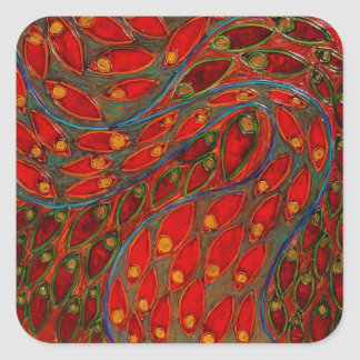 poppy & juggler (painting) sticker
