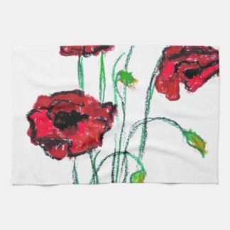 poppy towels