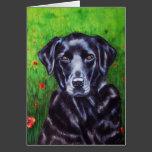 Poppy - Labrador Retriever Dog Art Card