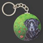 Poppy - Labrador Retriever Dog Art Keychain