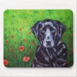 Poppy - Labrador Retriever Dog Art Mouse Pad