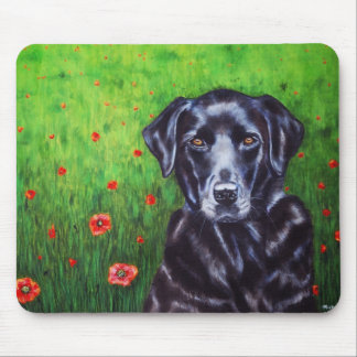Poppy - Labrador Retriever Dog Art Mouse Pads