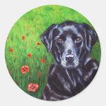 Poppy - Labrador Retriever Dog Art Classic Round Sticker