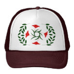 Poppy Laurel hat, red Hats