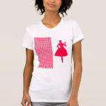 Poppy Modern Houndstooth with Fashion Silhouette Tee Shirt