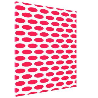 Poppy Modern Oval at Emporiomoffa Canvas Print