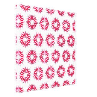 Poppy Modern Sunbursts Canvas Prints