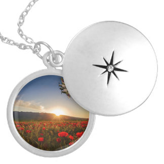 Poppy Mossie Silver Plated Necklace