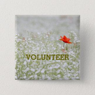 Poppy Nature Environmental Volunteer Button