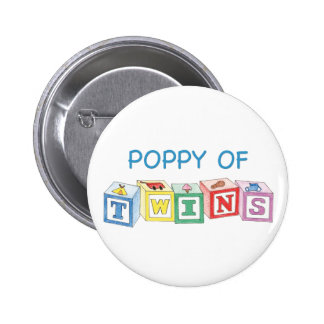 Poppy of Twins Blocks Pinback Button