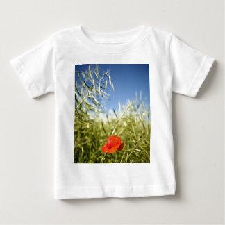 Poppy on a rape field tee shirt
