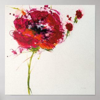 Poppy on White Poster