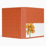 Poppy Orange 3 Ring Binders