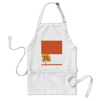 Poppy Orange Adult Apron