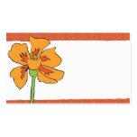 Poppy Orange Business Card Templates