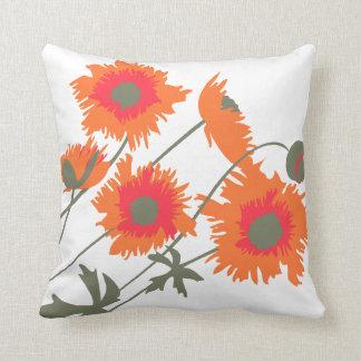 Green White Orange Pillows - Decorative & Throw Pillows Zazzle