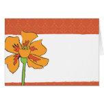 Poppy Orange Greeting Card