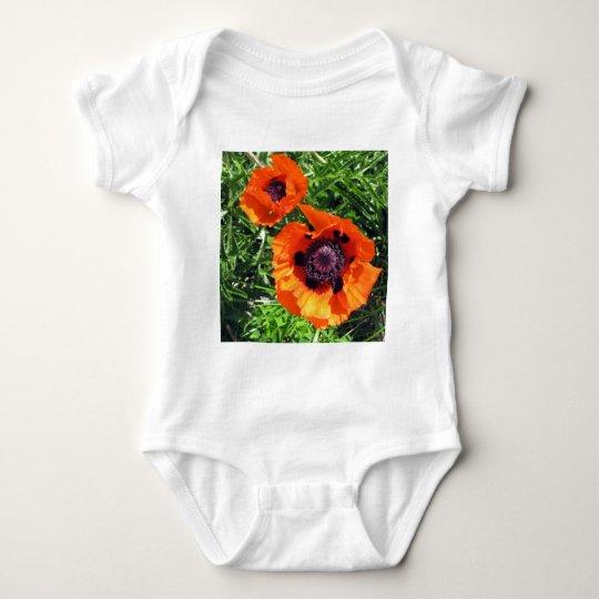 Poppy Orange poppies Baby Bodysuit