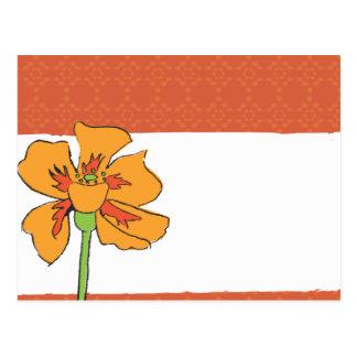 Poppy Orange Postcard