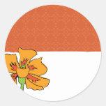 Poppy Orange Stickers