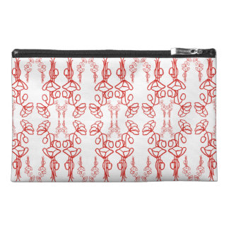 Poppy Outline, Red on White, Accessories Bag