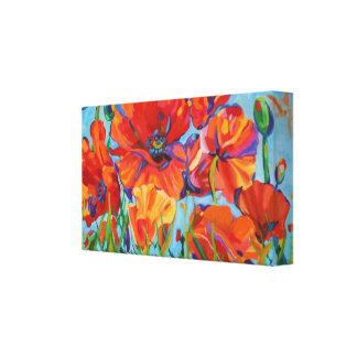 Poppy Painting Stretched Canvas Prints